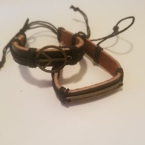 Jewelry - Inspirational leather bracelets